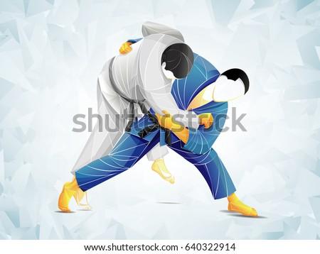 judo vector  stylized athlete