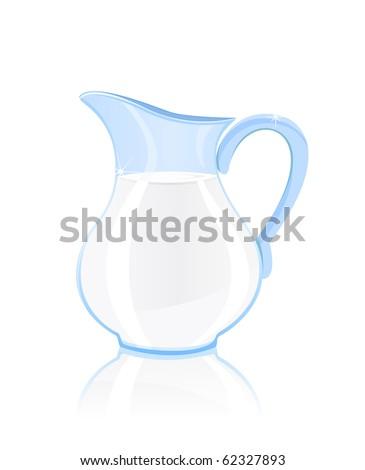jug of milk isolated on white background