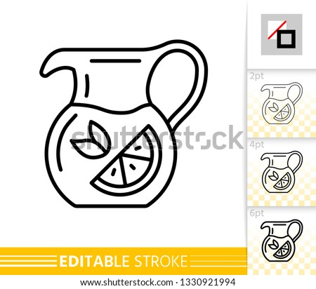 jug thin line icon pitcher