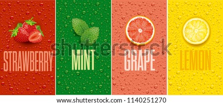 juice background with drops and