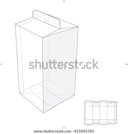 Royalty free six pack carrier box with die cut 344354048 stock juice box with blueprint template 425845585 pronofoot35fo Images