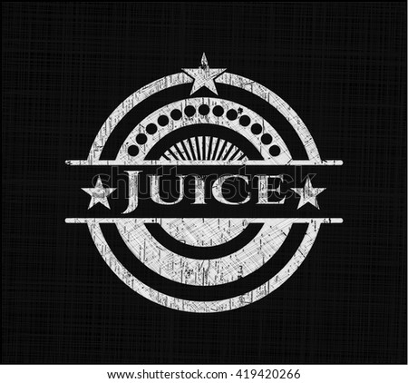 Juice chalkboard emblem on black board