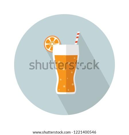juice icon flat illustration