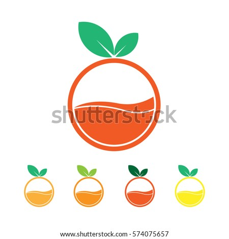 juice logo and fruit logo