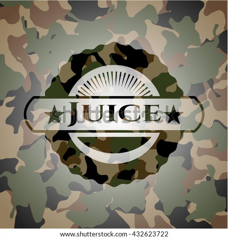 Juice on camo pattern