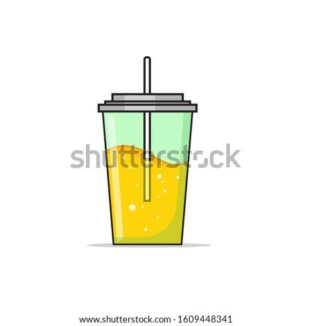 Juice Tumblr flat illustration vector
