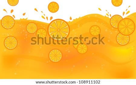 Juice with orange slices
