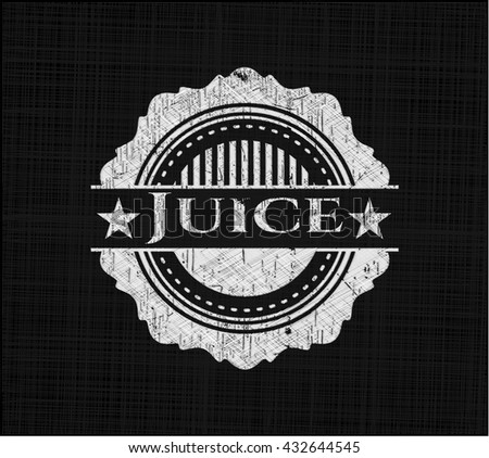 Juice written with chalkboard texture