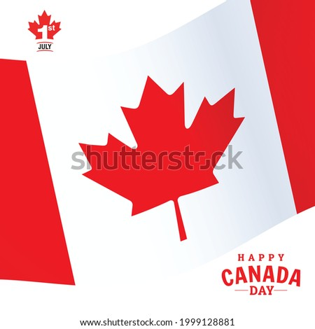 July 1st Canad a independence day with white background. Foto stock ©