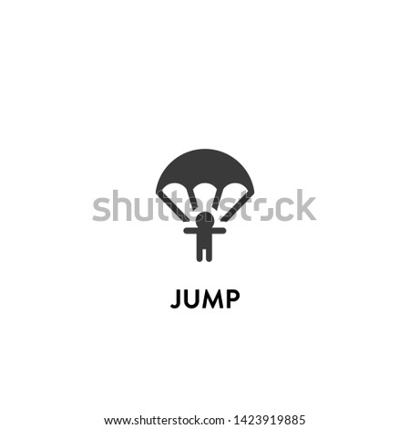 jump icon vector. jump vector graphic illustration