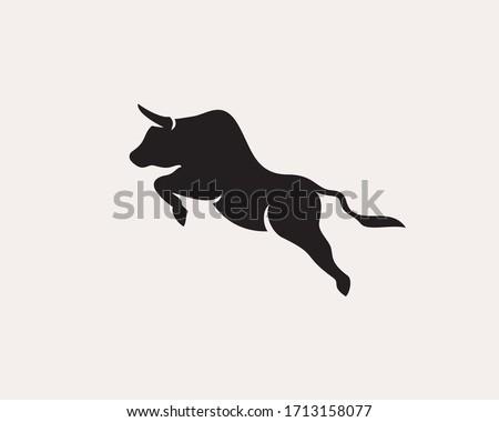 jump up high bull logo design