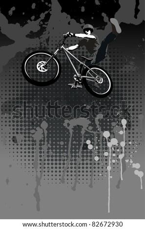 Jumping biker