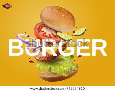 jumping burger ads  delicious