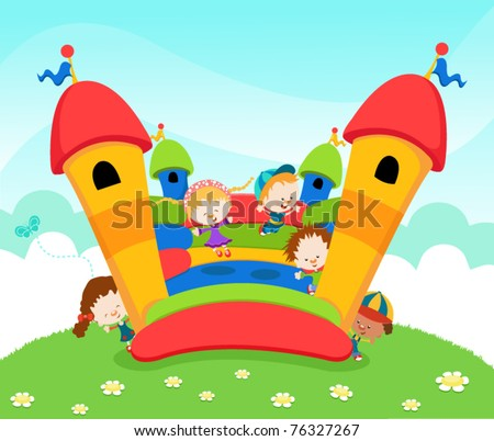 Jumping Castle - stock vector