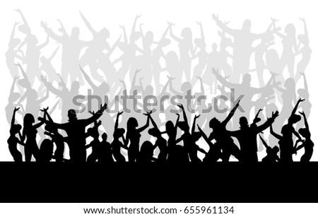 Jumping crowd