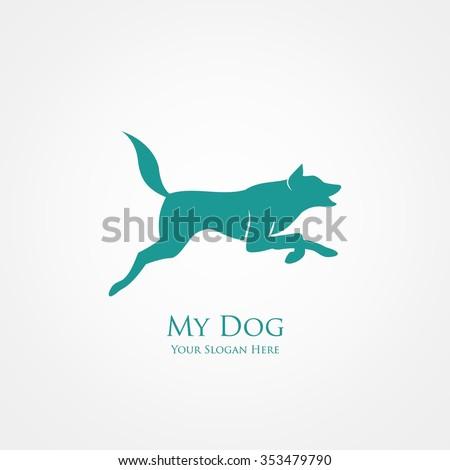 jumping dog  vector illustration