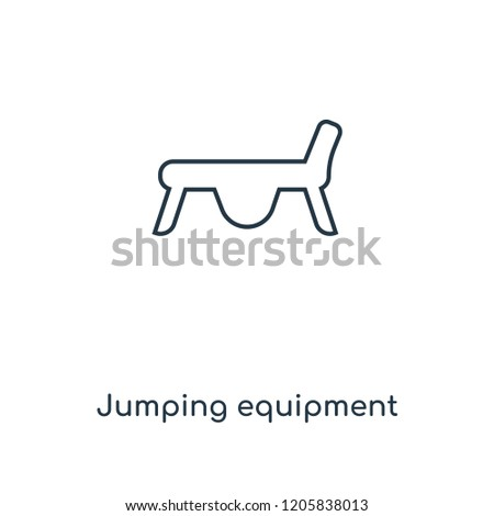 Jumping equipment concept line icon. Linear Jumping equipment concept outline symbol design. This simple element illustration can be used for web and mobile UI/UX.