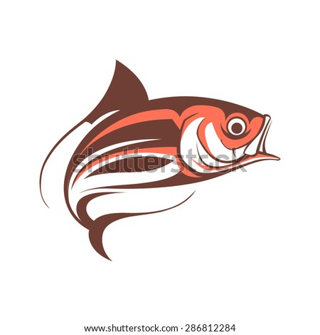 jumping fish logo template