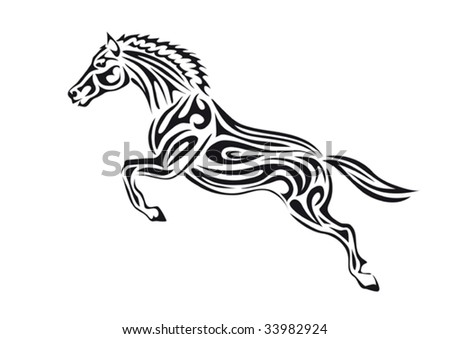 stock vector : Jumping horse,