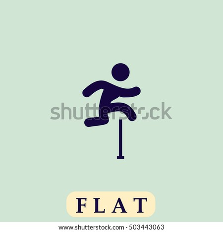 jumping icon vector flat