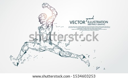 jumping person  point and line