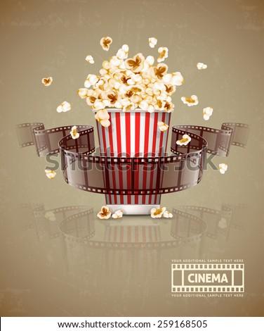 jumping popcorn and movie film