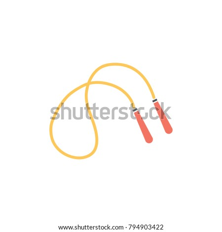 jumping rope icon - fitness and sports