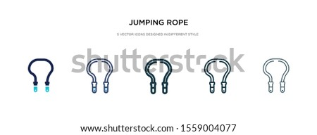 jumping rope icon in different