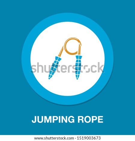 jumping rope illustration, jumping exercise, fitness icon