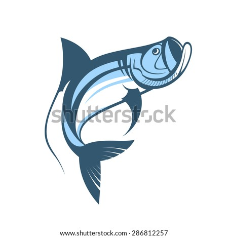 jumping tarpon fish logo