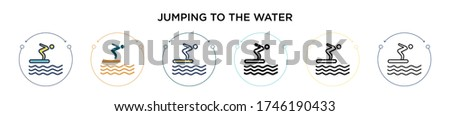 jumping to the water icon in