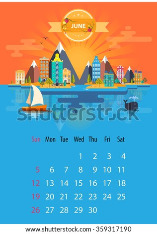 june calendar for 2016 in a4