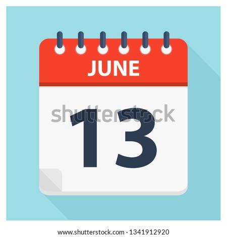 june 13   calendar icon