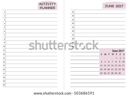 activity planner template
