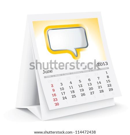 june 2013 desk calendar