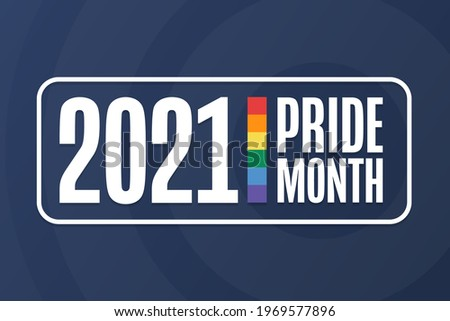 June is LGBT Pride Month. Holiday concept. Template for background, banner, card, poster with text inscription. Vector EPS10 illustration Foto stock ©