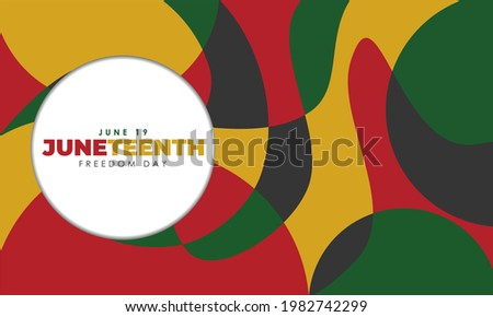 Juneteenth Color Abstract Background Pattern
