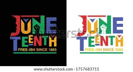 Juneteenth Free-ish Since June 19, 1865. Freeish Design of Banner. Black Lives Matter. Vector logo Illustration.