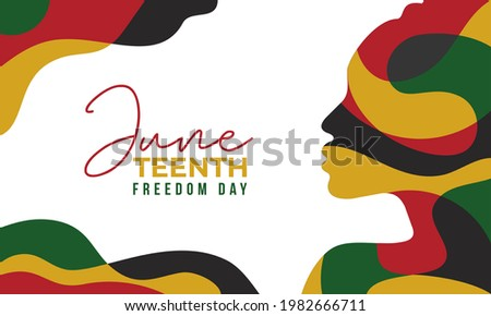 Juneteenth Freedom Day Abstract Vector Illustration