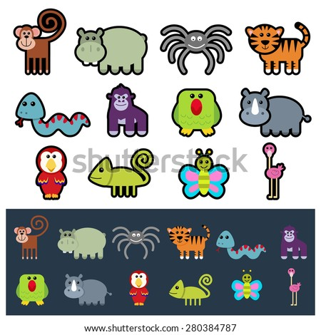 jungle animal icons
