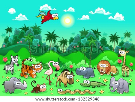 jungle animals the sides