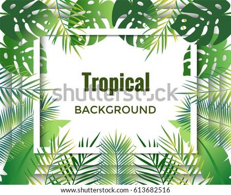 Vector de fondo tropical - Descargue Gráficos y Vectores Gratis