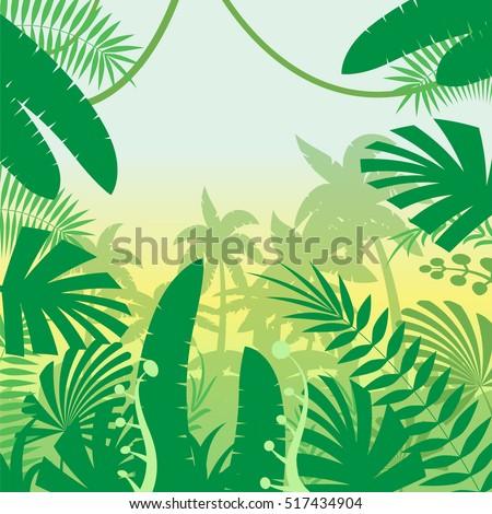 jungle flat background