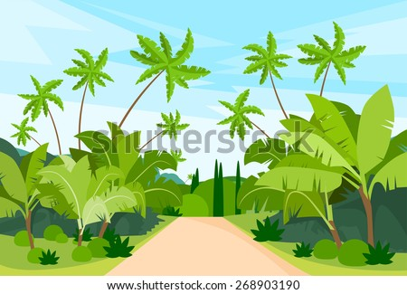jungle forest green landscape