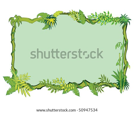 Jungle frame concept in vector - stock vector