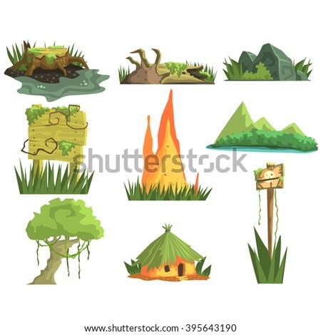 jungle landscape elements