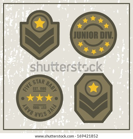 Junior Division Army Patches