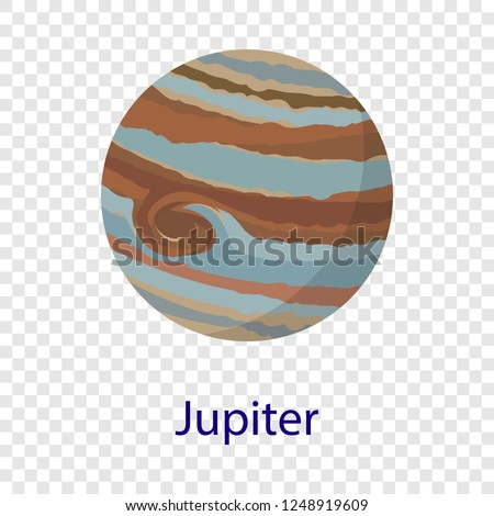 Jupiter planet icon. Flat illustration of jupiter planet vector icon