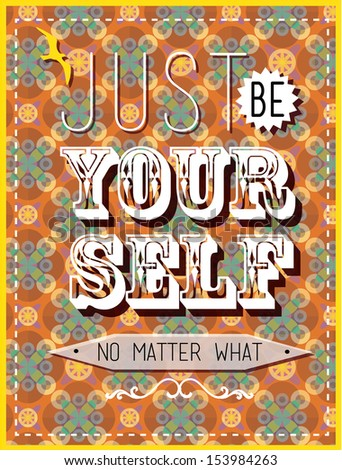 just be yourself card and