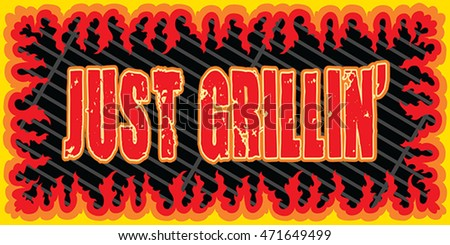 just grillin is an illustration